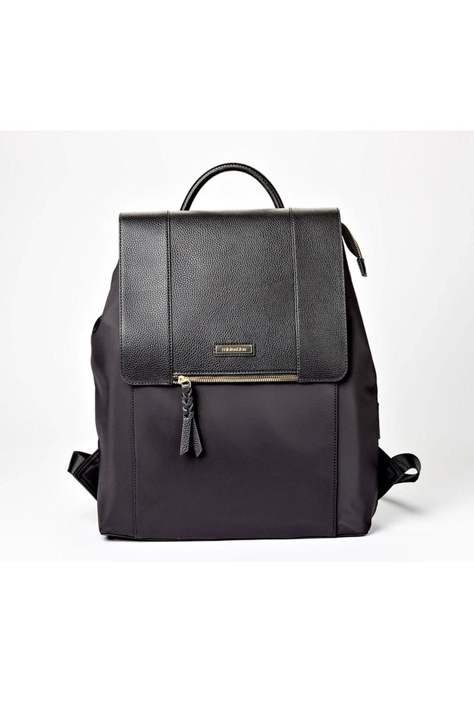 """<p><strong>Minkee Blue</strong></p><p>minkeeblue.com</p><p><strong>$169.00</strong></p><p><a href=""""https://minkeeblue.com/collections/nichet-backpack/products/mariah-backpack"""" rel=""""nofollow noopener"""" target=""""_blank"""" data-ylk=""""slk:Shop Now"""" class=""""link rapid-noclick-resp"""">Shop Now</a></p><p>This convertible backpack has a pop-out water bottle holder, <em>plus</em> space to store shoes or a lunch bag—not to mention it's incredibly chic.</p>"""