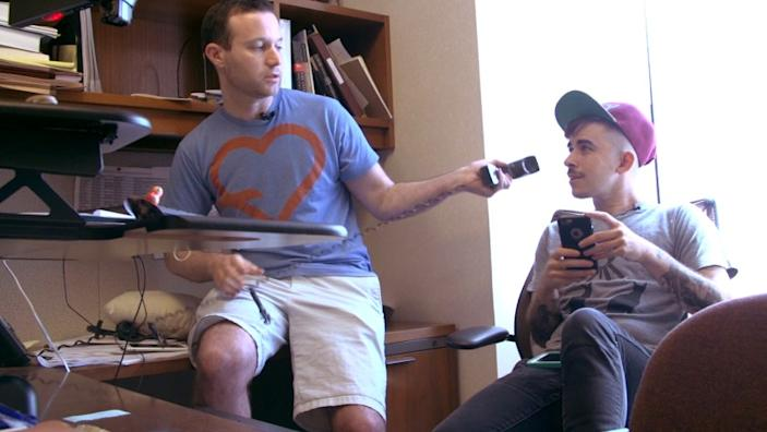 "Joshua Block, left, and Chase Strangio in the documentary ""The Fight."". <span class=""copyright"">(Magnolia Pictures)</span>"