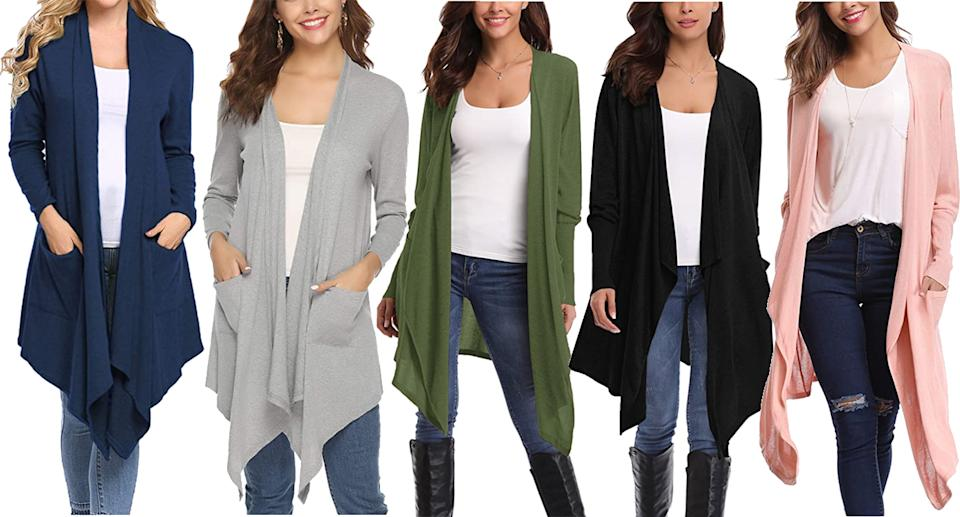 The cardi comes in 10 different shades. (Amazon)