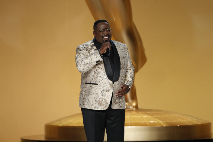 Cedric the Entertainer hosts the 73rd Emmy Awards. (Photo by Cliff Lipson/CBS via Getty Images)