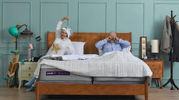 "<div class=""inline-image__caption""><p><a href=""https://purple.com/mattresses/purple-mattress/buy?irgwc=1&utm_medium=af&utm_source=ir&utm_campaign=454867&utm_content=1219815&mpn=MA_Purple&clickid=VS%3ASZN2zUxyJWtH0MvSyQWlBUkl38HXpwQRkXo0&time=1558712808567&c3nid=1219815&c3ch=Affiliate"" rel=""nofollow noopener"" target=""_blank"" data-ylk=""slk:Save up to $100 on mattress and get free sheets"" class=""link rapid-noclick-resp"">Save up to $100 on mattress and get free sheets</a> at Purple</p></div>"
