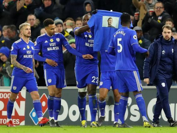 Cardiff City players pay tribute to Sala in their win over Bournemouth (Getty)