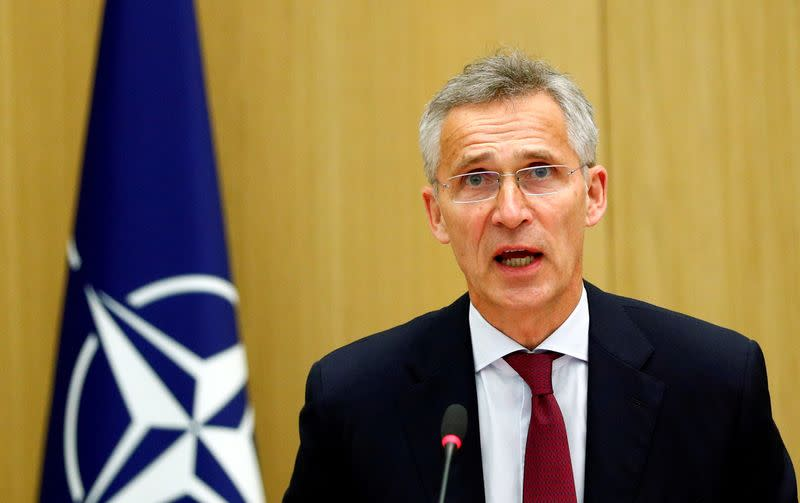 FILE PHOTO: NATO defence ministers meeting via teleconference in Brussels