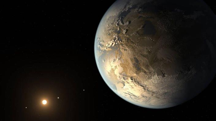 """<p>Kepler-186 f was the first <a href=""""https://exoplanets.nasa.gov/resources/198/kepler-186f-the-first-earth-size-planet-in-the-habitable-zone-artists-concept/"""" rel=""""nofollow noopener"""" target=""""_blank"""" data-ylk=""""slk:Earth-sized exoplanet found in the habitable zone"""" class=""""link rapid-noclick-resp"""">Earth-sized exoplanet found in the habitable zone</a>. It has an orbit of 130 Earth days and is less than 10 percent larger than Earth.</p><p>It seems like it would be a great candidate to house liquid water, and, in turn, life. But there's a catch: It's a whopping 490 light-years away from Earth, in the constellation Cygnus. </p>"""