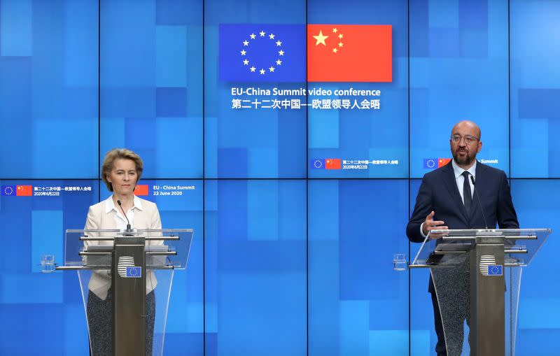 EU holds a virtual summit with China
