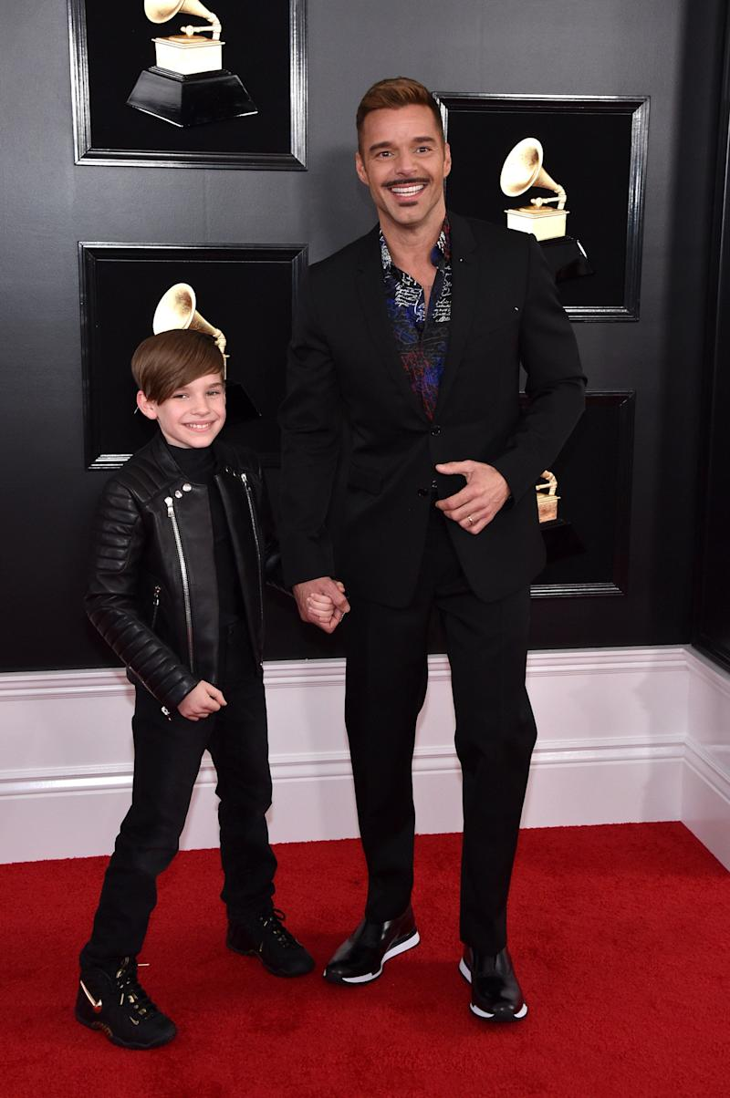 Ricky Martin with his 10-year-old son, Matteo.
