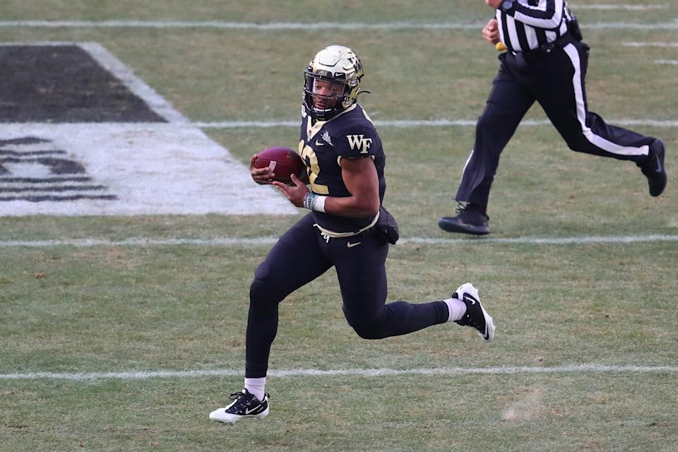 Can Jamie Newman play at Georgia the way he did early last season at Wake Forest? That's the biggest question. (Photo by Rich Graessle/Icon Sportswire via Getty Images)