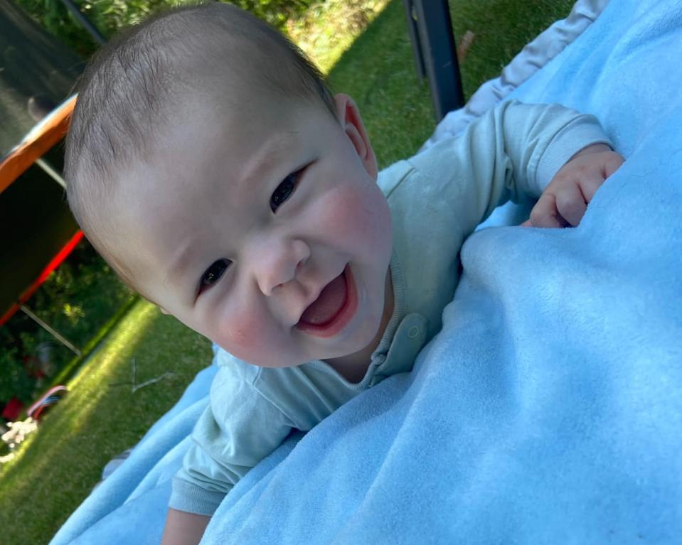 """<div class=""""inline-image__caption""""><p>The baby has weekly video visits with his intended father, who is in China.</p></div> <div class=""""inline-image__credit"""">Courtesy of Sierra Martin</div>"""