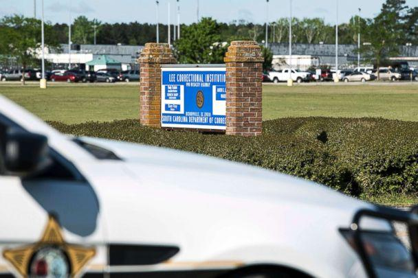 PHOTO: A police vehicle sits outside the Lee Correctional Institution on April 16, 2018, in Bishopville, S.C. (Sean Rayford/AP)