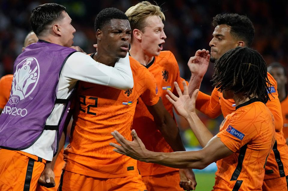 Denzel Dumfries' late header decided a Euro 2020 thriller between the Netherlands and Ukraine (POOL/AFP via Getty Images)