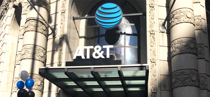 AT&T flagship store in San Francisco.