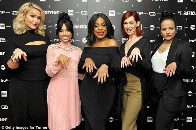 Karrueche Tran and her cast members show off their claws at TCA.