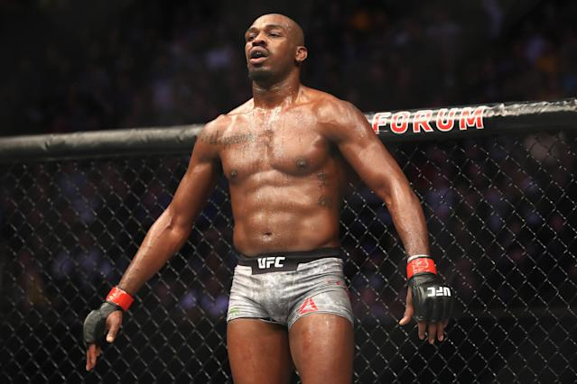 Jon Jones defeated Alexander Gustafsson at UFC 232 less than a week after his <span>anti-doping sample</span> revealed a trace amount of the banned anabolic steroid oral turinabol. (Sean M. Haffey/Getty Images)