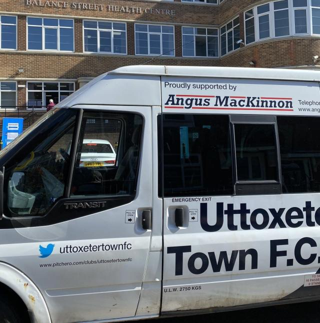 Uttoxeter Town have been delivering prescriptions in conjunction with Balance Street Health Centre (Uttoxeter Town/PA)