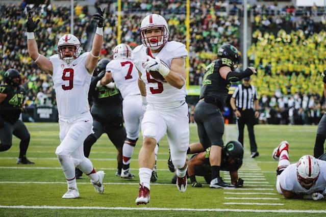 How will Christian McCaffrey finish off his career at Stanford? (Getty)