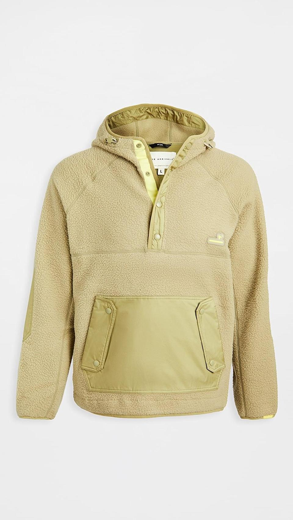 <p>They'll always want to wear this <span>The Arrivals Kenda Fleece Hooded Pullover</span> ($160).</p>