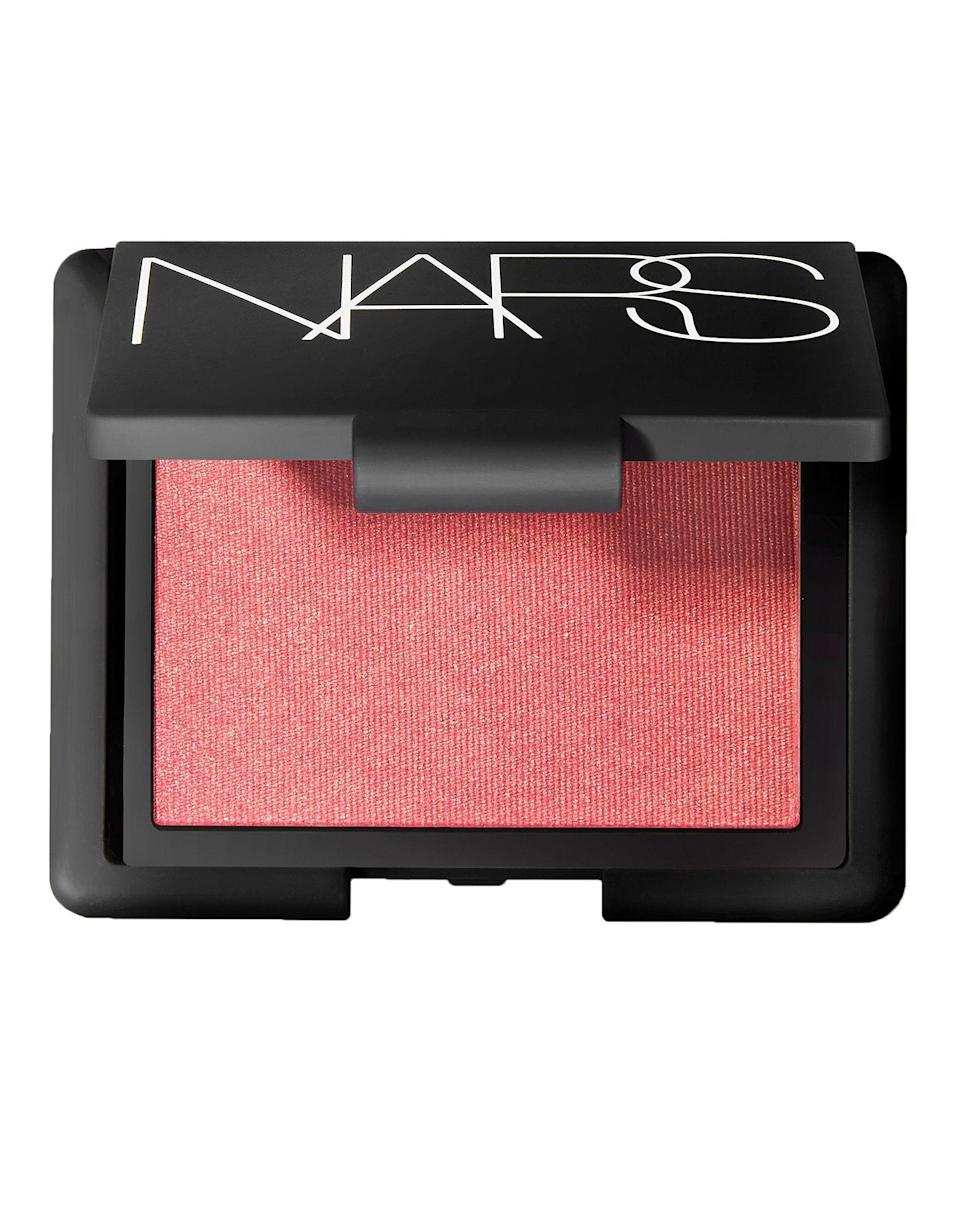 """<p><strong>NARS</strong></p><p>sephora.com</p><p><strong>$30.00</strong></p><p><a href=""""https://go.redirectingat.com?id=74968X1596630&url=https%3A%2F%2Fwww.sephora.com%2Fproduct%2Fblush-P2855&sref=https%3A%2F%2Fwww.harpersbazaar.com%2Fbeauty%2Fmakeup%2Fg5352%2Fbest-blush%2F"""" rel=""""nofollow noopener"""" target=""""_blank"""" data-ylk=""""slk:Shop Now"""" class=""""link rapid-noclick-resp"""">Shop Now</a></p><p>You might think this blush is iconic solely because of the controversial name, but the rosy pink shade with a subtle golden shimmer truly does complement all skin tones.</p>"""