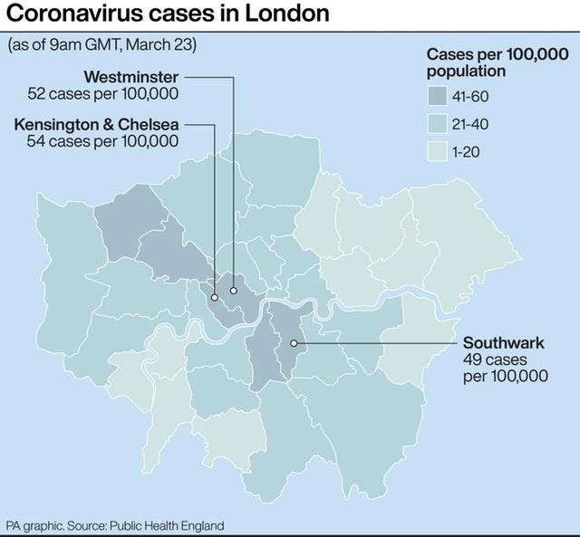 United Kingdom closure announced by Prime Minister Boris Johnson amid spread of coronavirus