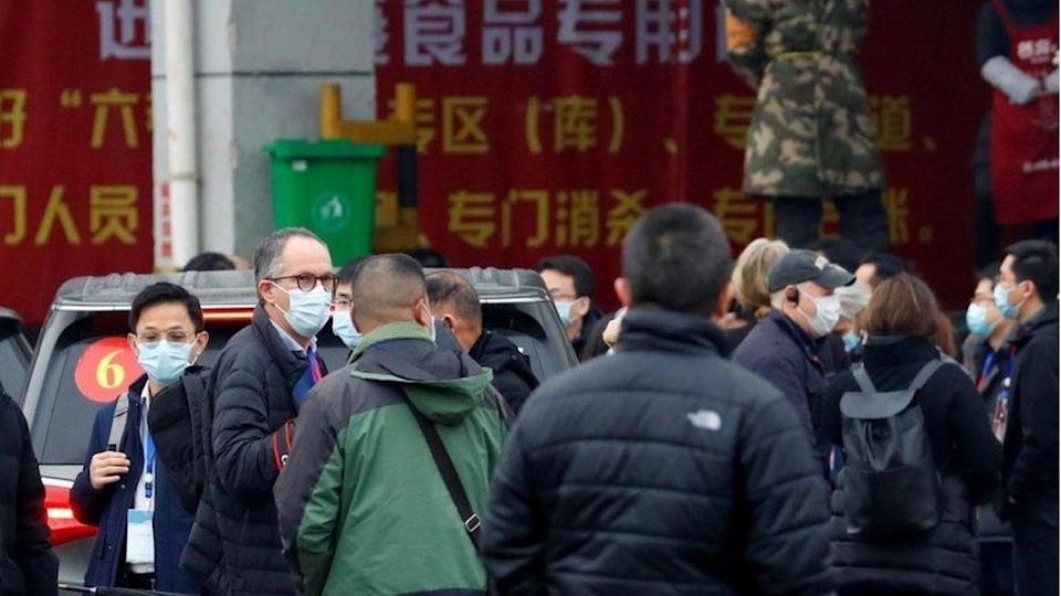 Peter Ben Embarek, a member of the WHO team tasked with investigating the origins of the coronavirus disease (COVID-19) pandemic, arrives with his team at Baishazhou market in Wuhan, China, January 31, 2021.