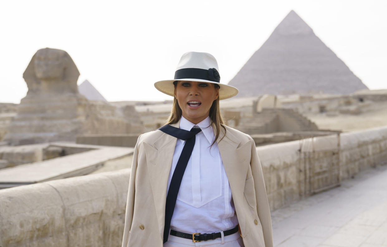 <em>Interview – Melania Trump gave the interview during her tour of Africa (Picture: AP/Carolyn Kaster)</em>