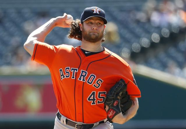 Gerrit Cole has added another ace to the Astros loaded rotation. (AP)
