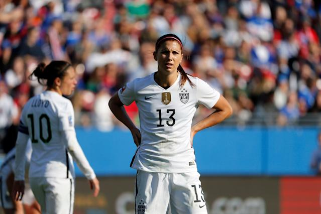 If USWNT star Alex Morgan can't play, another big name could take her place. (Associated Press)