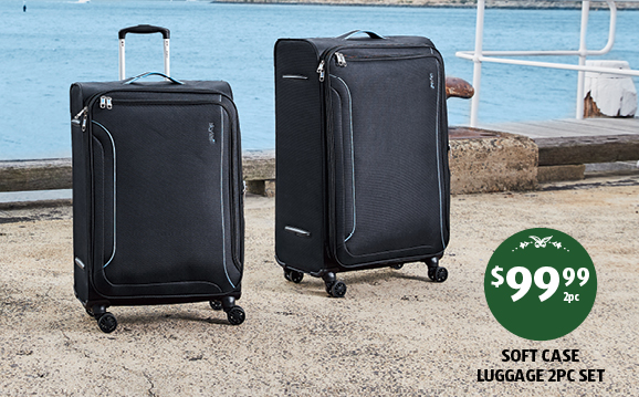 Suitcases on sale as Special Buys at Aldi this week.