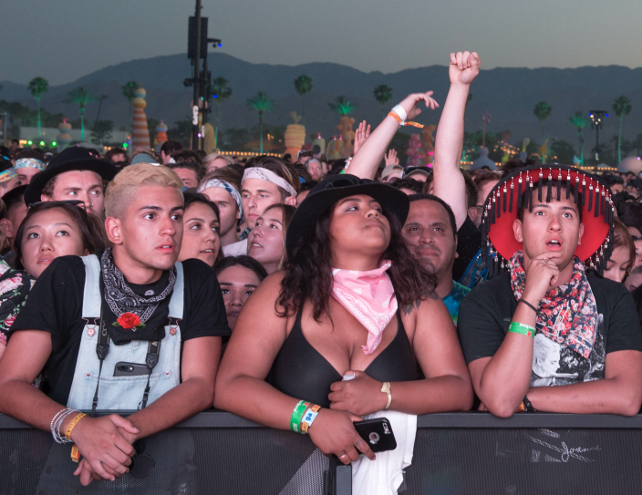 A crowd at the Coachella Valley Music And Arts Festival on April 15, 2017, in Indio, California. (Photo: VALERIE MACON/AFP via Getty Images)