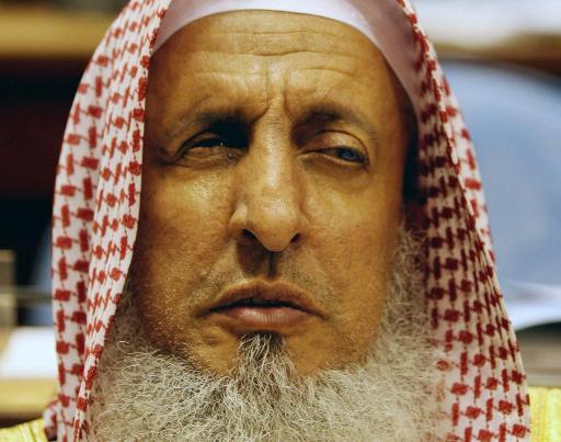 Saudi Grand Mufti Abdulaziz al-Sheikh, listens to a speech at the Shura Council in Riyadh, on March 15, 2008