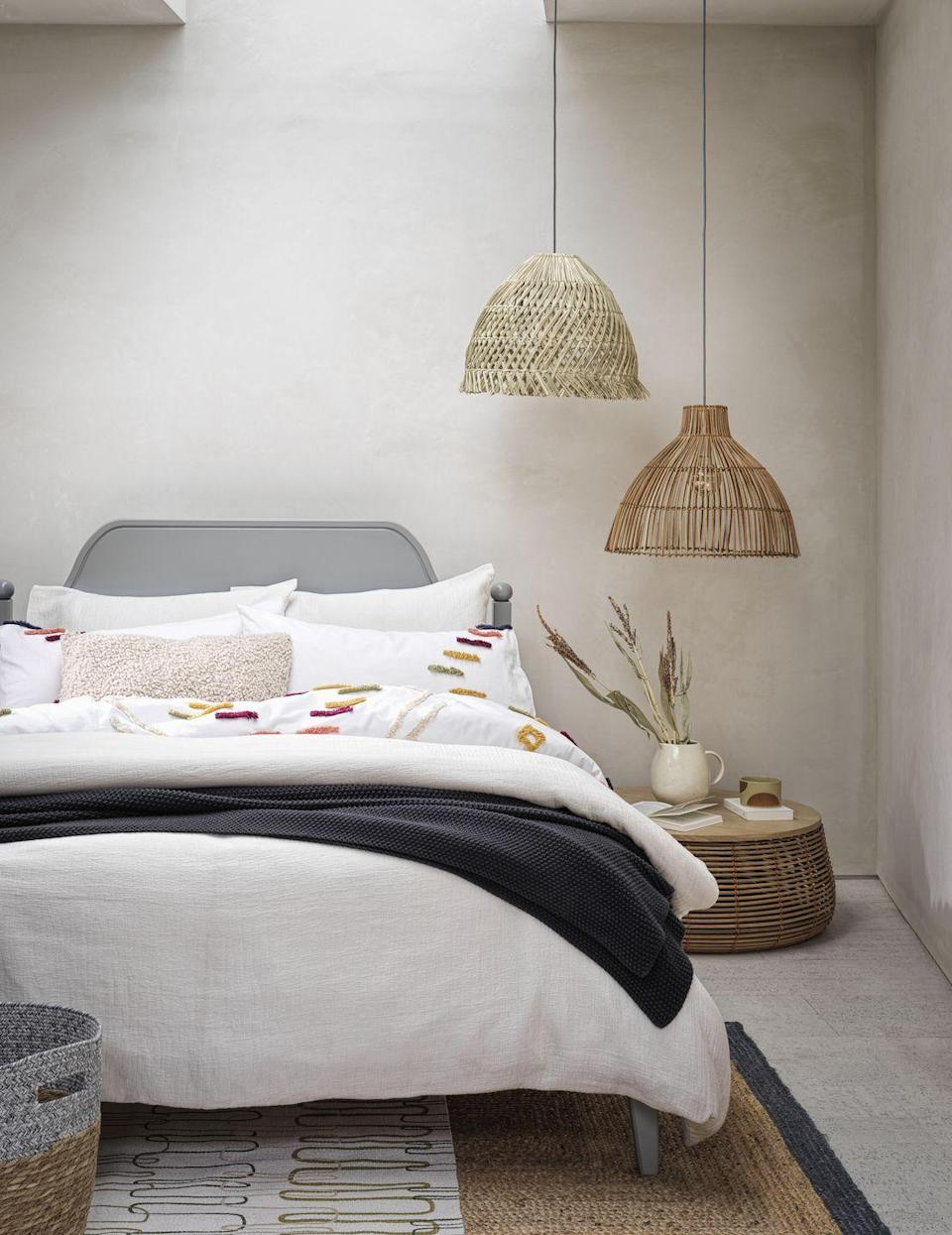 <p>Natural materials, such as seagrass and rattan, are not going anywhere. Formed from sustainable materials, they are favoured for being lightweight, stylish and affordable. </p><p>'Seagrass is well-known for its biodegradable properties and is as<br>visually appealing as rattan,' explains Anna Cross, Home Living Buying Manager. 'A hero piece for autumn is a handwoven pendant shade, the pleasingly homespun fringed base casts a romantic dappled light.'</p>