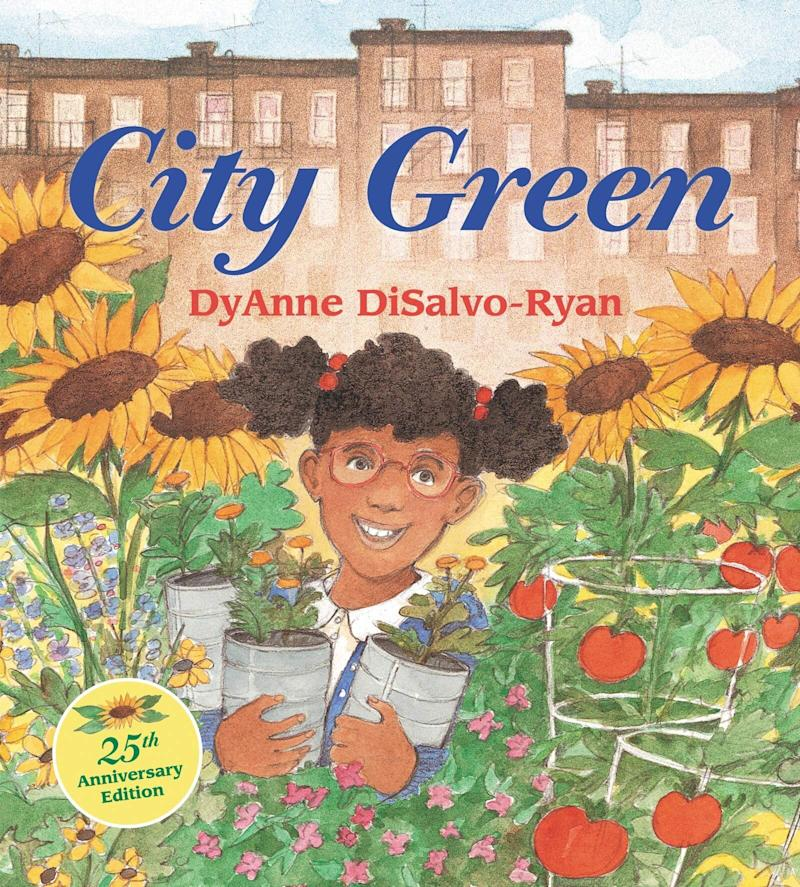 """City Green"" is about a girl's efforts to plant a garden and create an urban oasis in her community.&nbsp;<i>(Available <a href=""https://www.amazon.com/City-Green-DyAnne-DiSalvo-Ryan/dp/068812786X"" target=""_blank"" rel=""noopener noreferrer"">here</a>)</i>"
