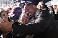 <p>Will Smith and takes a selfie with a fan as Samsung celebrates the Premiere of <em>Suicide Squad</em> at Beacon Theatre on August 1, 2016 in New York.</p>