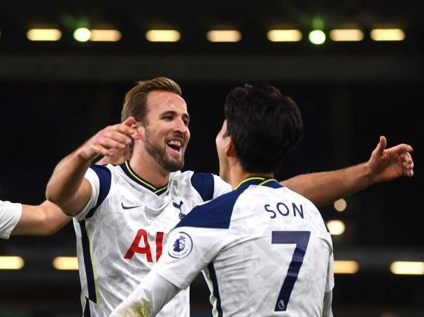 Son Heung-min celebrates with Harry Kane (Getty)
