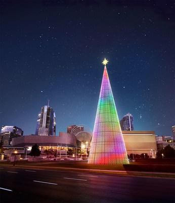 As part of the annual Mile High Holidays marketing campaign, VISIT DENVER and other community partners have created Denver's newest holiday attraction, The Mile High Tree. The seven-story tall, 39-foot diameter conical structure in the city's Sculpture Park is America's tallest digital tree, and it will feature lighting and music experiences every evening from November 30, 2019 - January 31, 2020.