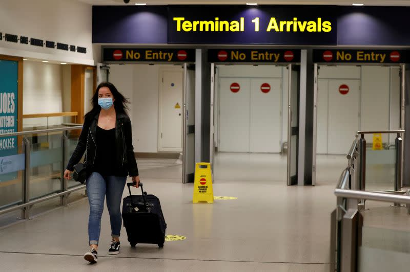 FILE PHOTO: Outbreak of the coronavirus disease (COVID-19) in Manchester