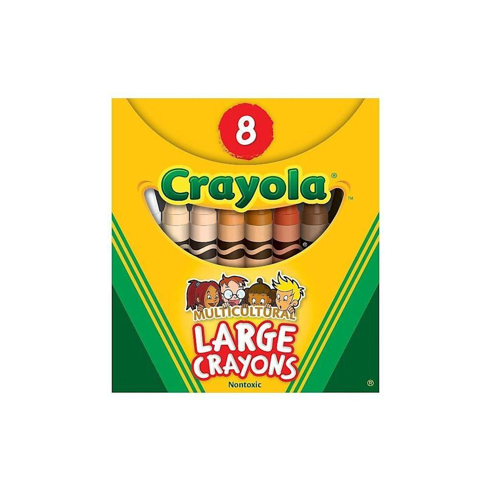 """<p><strong>Crayola</strong></p><p>staples.com</p><p><strong>$3.79</strong></p><p><a href=""""https://go.redirectingat.com?id=74968X1596630&url=http%3A%2F%2Fwww.staples.com%2Fproduct_823964&sref=https%3A%2F%2Fwww.bestproducts.com%2Fparenting%2Fg32781476%2Fdiverse-multicultural-toys-for-kids%2F"""" rel=""""nofollow noopener"""" target=""""_blank"""" data-ylk=""""slk:Shop Now"""" class=""""link rapid-noclick-resp"""">Shop Now</a></p><p>Help your little artists represent wonderful diverse skin tones in all of their masterpieces with this Crayola Multicultural Crayon pack. With eight different tones that will help them capture more accurate skin colors, the pack also includes a pure white and black crayon to assist with blending. </p><p><strong>More: </strong><a href=""""http://www.bestproducts.com/parenting/g32732285/books-about-race-and-racism-for-kids/"""" rel=""""nofollow noopener"""" target=""""_blank"""" data-ylk=""""slk:15 Kids' Books About Race and Racism That Will Help Start a Necessary Conversation"""" class=""""link rapid-noclick-resp"""">15 Kids' Books About Race and Racism That Will Help Start a Necessary Conversation</a></p>"""