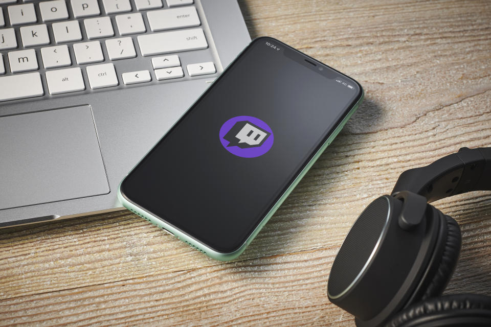 An Apple iPhone 11 smartphone with the Twitch video streaming app logo on screen, taken on January 27, 2020. (Photo by Phil Barker/Future Publishing via Getty Images)