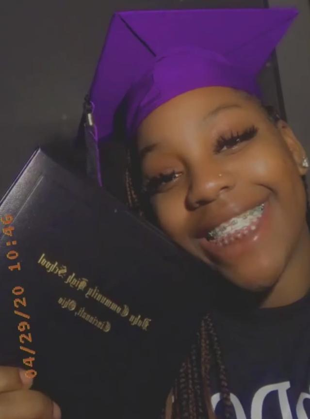 Vic'Tajia Stuckey poses excitedly with her diploma after graduation ceremony. (Photo: Vic'Tajia Stuckey)
