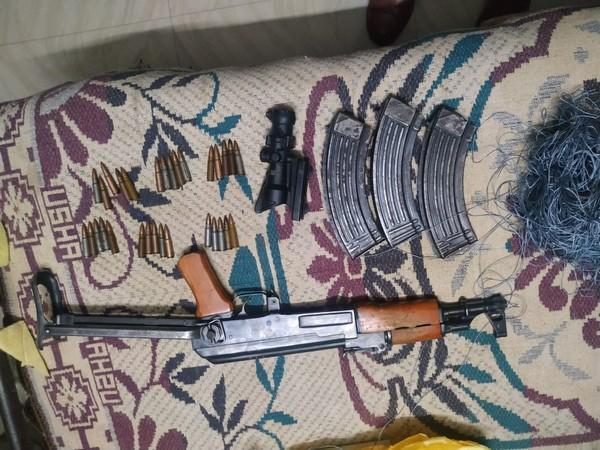 AK-47, night vision device, ammunition recovered in Jammu on Saturday.