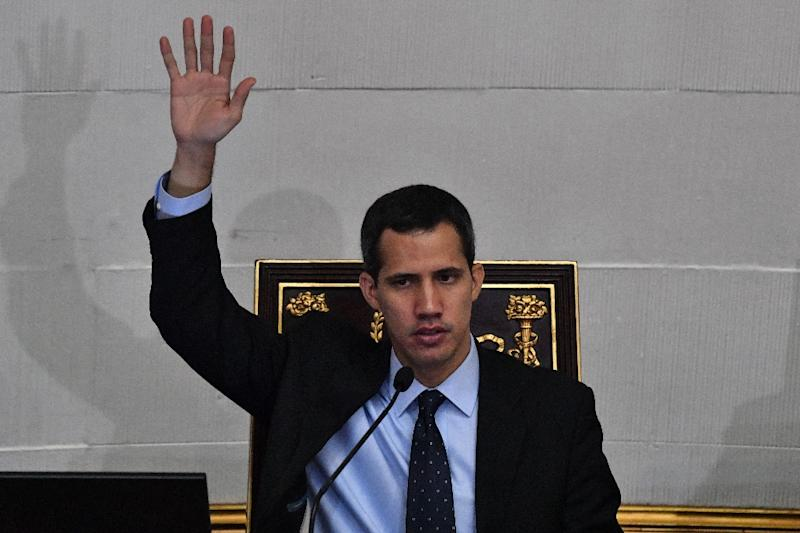 Guaido is trying to force Maduro from power so he can set up a transitional government and hold new elections (AFP Photo/Yuri CORTEZ)