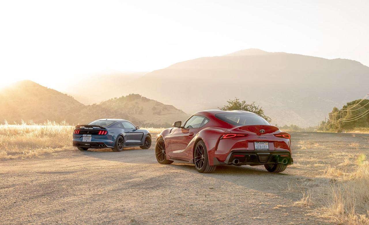 <p>While the Mustang's styling leaves no doubt as to its heritage, the Supra explores new ground and winds up looking better from some angles than others.</p>