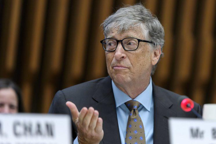 Bill Gates encouraged Theresa May to keep up the 0.7% commitment (AP)