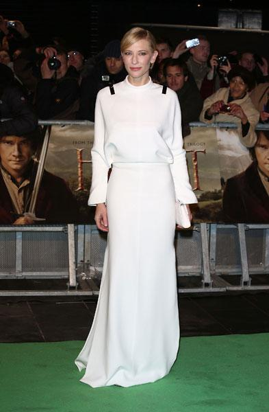 <b>Cate Blanchett at the London premiere of The Hobbit, Dec 2012 </b><br><br>Cate's Givenchy dress is from the designer's SS13 collection shown at Paris Fashion Week earlier this year.<br><br>© Getty