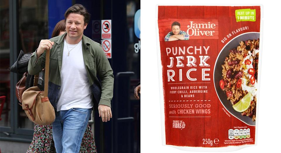Jamie Oliver has come under fire for his latest food product. [Photo: Getty]