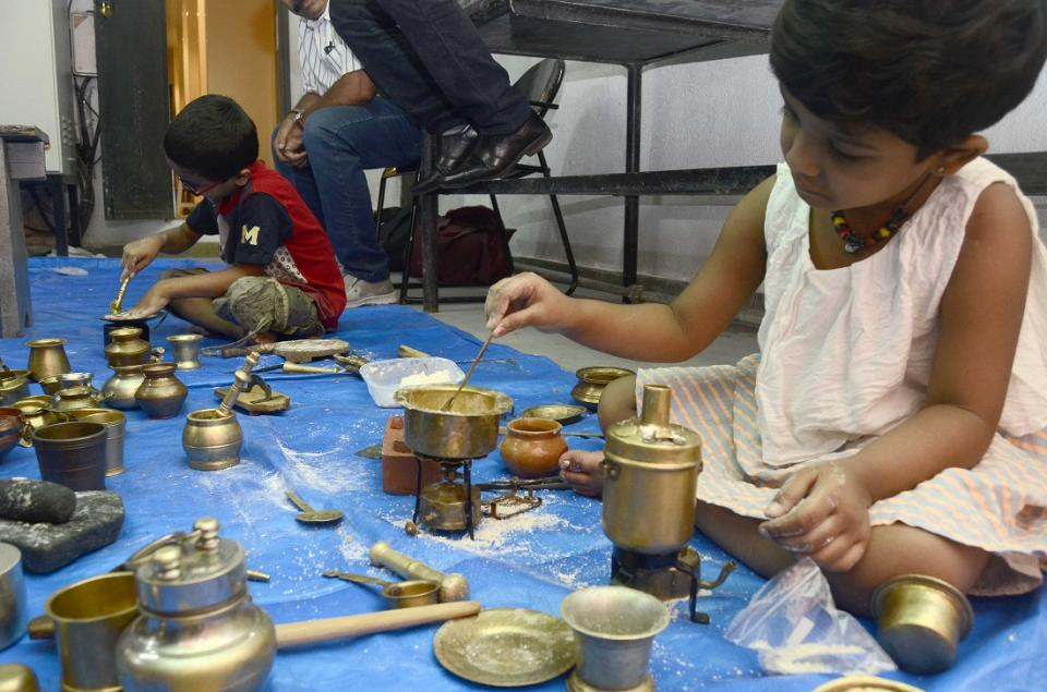 In ancient times, Bhatukli was devised as a method of getting young girls to learn home management rituals and traditions through play