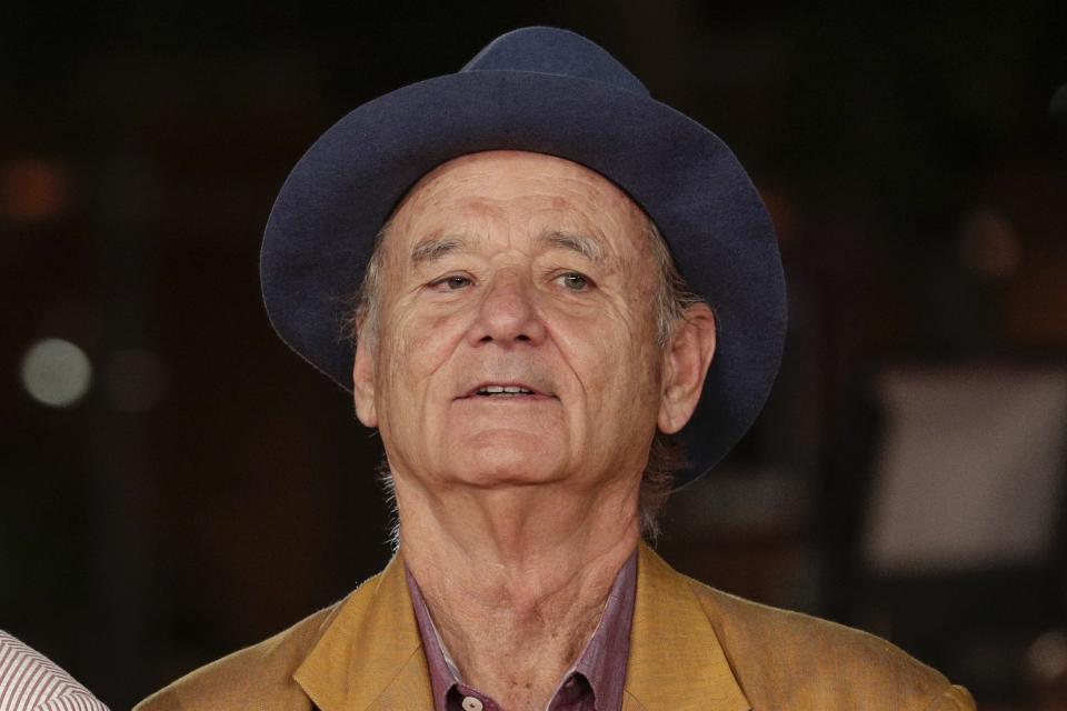 Bill Murray poses at the Rome Film Fest, in Rome, Thursday, Oct. 17, 2019. (AP Photo/Andrew Medichini)
