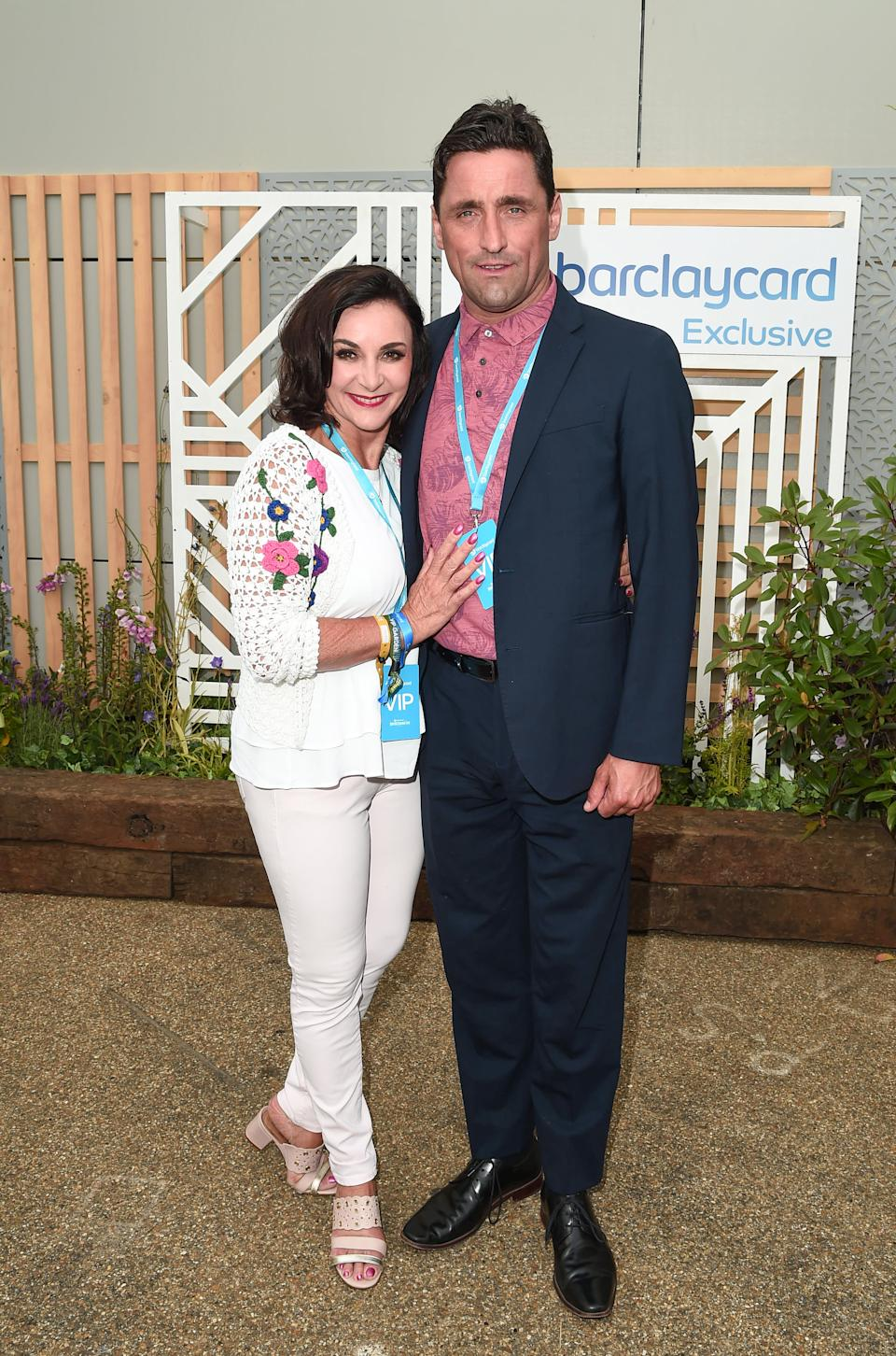 LONDON, ENGLAND - JULY 06:  Shirley Ballas and Daniel Taylor attend the Barclaycard Exclusive Area at Barclaycard Presents British Summer Time Hyde Park at Hyde Park on July 06, 2019 in London, England. (Photo by Eamonn M. McCormack/Getty Images for Barclaycard Exclusive)