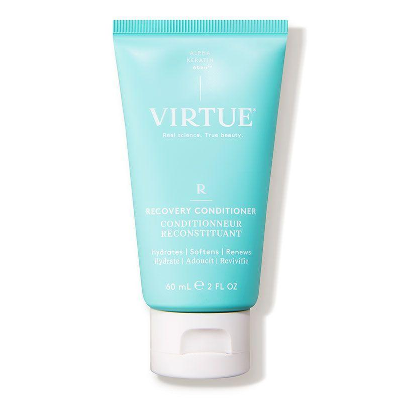 """<p><strong>VIRTUE</strong></p><p>dermstore.com</p><p><a href=""""https://go.redirectingat.com?id=74968X1596630&url=https%3A%2F%2Fwww.dermstore.com%2Fproduct_Recovery%2BConditioner_81392.htm&sref=https%3A%2F%2Fwww.cosmopolitan.com%2Fstyle-beauty%2Fbeauty%2Fg34249240%2Fdermstore-hair-sale-2020%2F"""" rel=""""nofollow noopener"""" target=""""_blank"""" data-ylk=""""slk:Shop Now"""" class=""""link rapid-noclick-resp"""">Shop Now</a></p><p><strong><del>$16</del> $12 (25% off)</strong></p><p>The keratin used in <a href=""""https://www.dermstore.com/profile_VIRTUE+_505675.htm"""" rel=""""nofollow noopener"""" target=""""_blank"""" data-ylk=""""slk:Virtue"""" class=""""link rapid-noclick-resp"""">Virtue</a> products is identical to keratin produced by the human body, so you can expect stronger strands with every use. Unlike a lot of other Keratin products, Virtue products are all vegan. (Editor's note: I bought myself this travel-sized version back in July after reading about how Jennifer Garner swears by this, and I still have some left. And yes, I shower regularly.) </p>"""