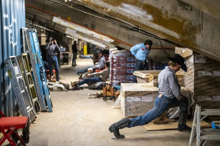 Rodeo riders get ready for their events at the San Angelo Stock Show and Rodeo, April 16, 2021 in San Angelo, Texas