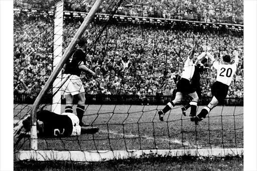 <p>1954: West Germany 3 Hungary 2. The best team in football history never to have won the World Cup looked to have this final sewn up after just eight minutes when they led 2-0. Hungary had already beaten the Germans 8-3 in a group match but they were pegged back to 2-2 by the 18th minute. Helmut Kahn bagged a stunning winner for West Germany in the 84th minute. English referee William Ling came in for some stick after the match, allowing Germany's equaliser to stand after an apparent foul then ruling out a third Hungarian goal – scored by Ferenc Puskas – for offside after allowing it then chatting to a linesman. </p>